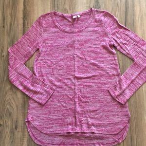 Pink girls long sleeve shirt